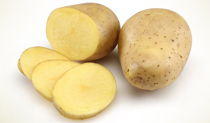 Potatoes are dense and hold water better.