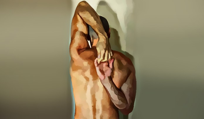 Shoulder stretch focuses specifically on the shoulder muscles.