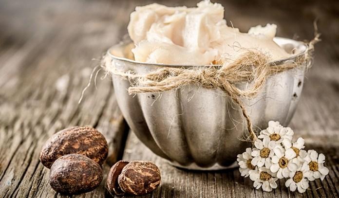 A shea butter-honey sugar scrub will gently exfoliate dead skin and moisturise lips.