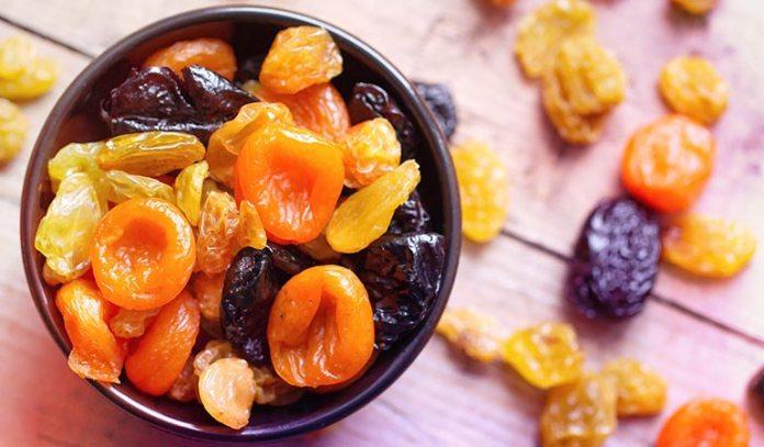 Dried fruits contain more sugar that fresh fruit
