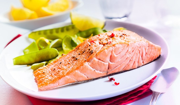 Salmon contains astaxanthin and Omega-3 fatty acids that improve the elasticity of the skin