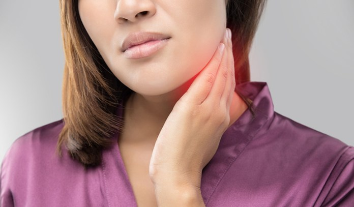 A pea-sized lump on the neck or other parts of the body may be lymph nodes