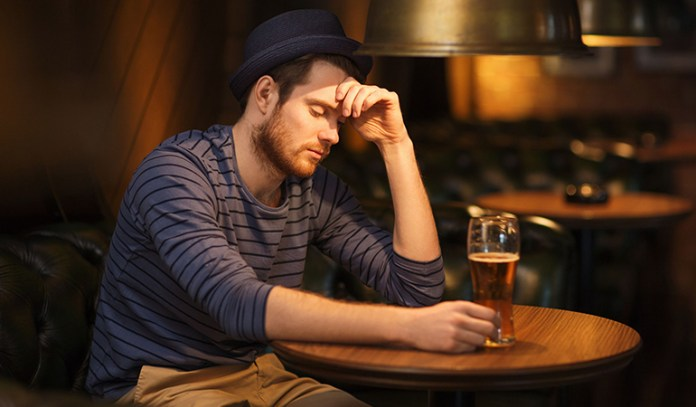 Fatigue is due to alcohol