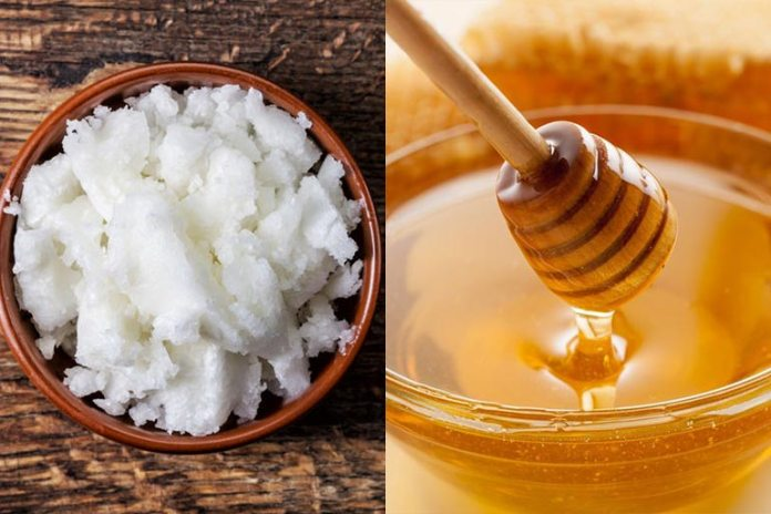 Coconut oil and honey hydrate hair.