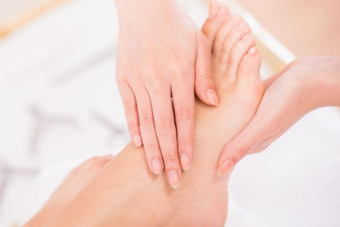 Foot massage might relieve swelling.