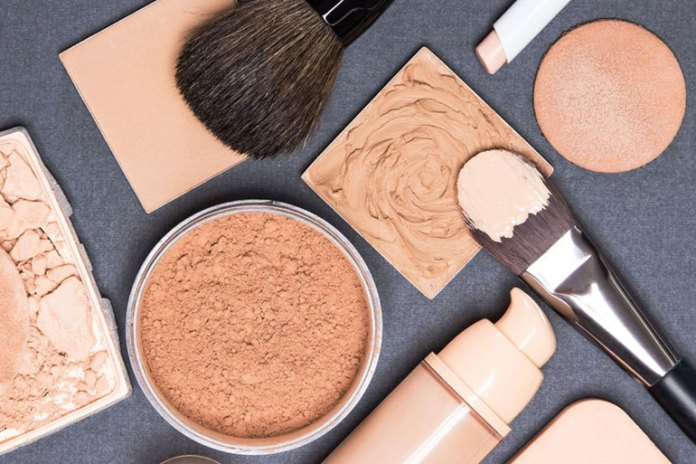 Makeup must be suited to sensitive skin.