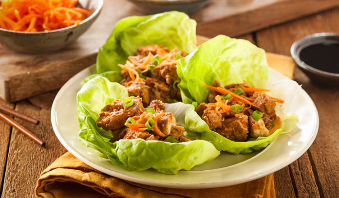 Lettuce wraps are healthier options for the regular tacos
