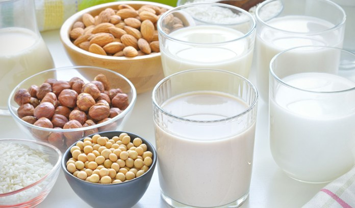 Milk can easily be substituted with non-dairy items like almond, coconut, or rice milk in recipes.