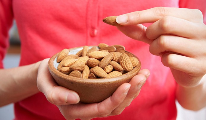 Nuts fill you up and are easy on the stomach