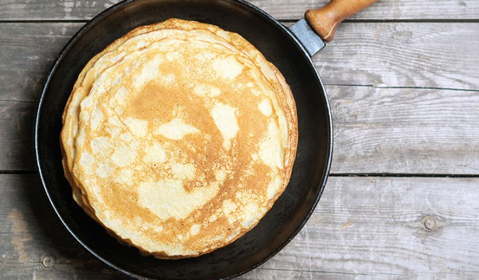 Mix in turmeric into your pancake batter