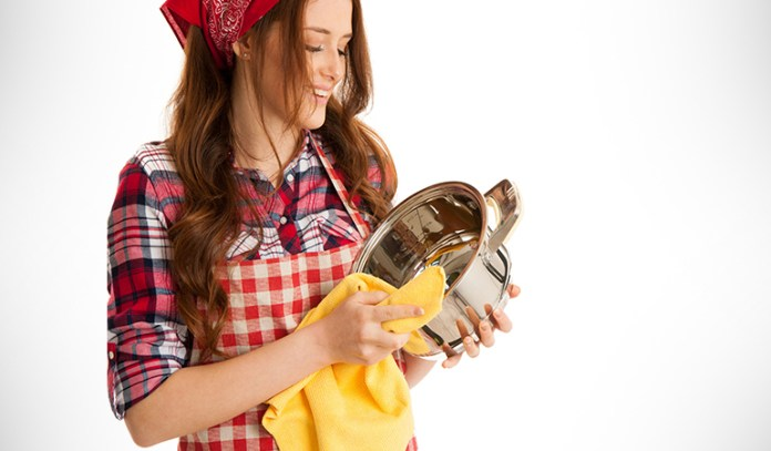Reusing old t-shirts and dishcloths can cut down usage and wastage of paper towels.