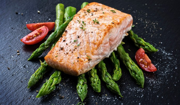 Salmon is rich in protein and omega-3 fatty acids that are ideal for hair health