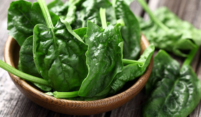 Spinach is rich iron and prevents hair loss