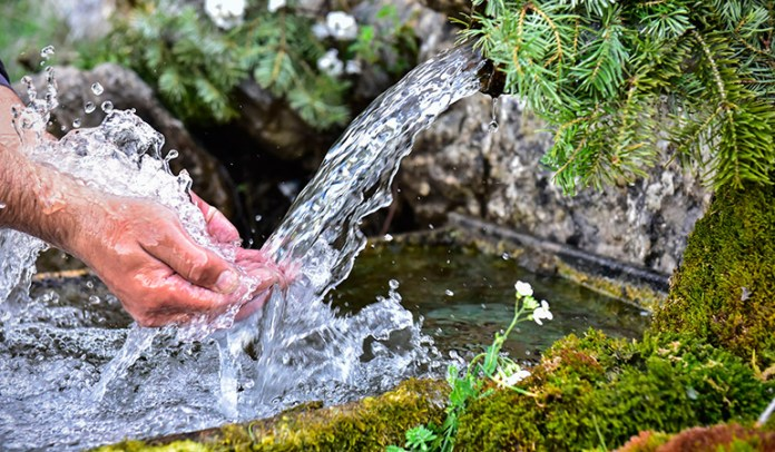 The One Source Of Pure Water Left: Spring Water