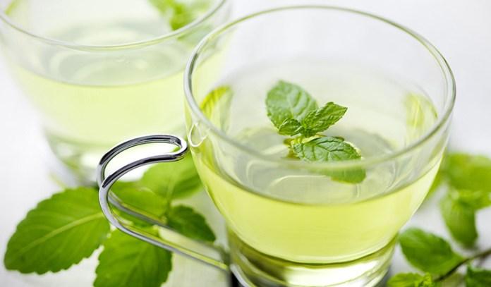 Peppermint tea helps improve digestion.