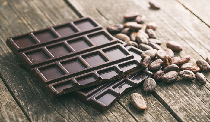The high concentrations of cocoa in dark chocolate have cortisol-lowering properties.