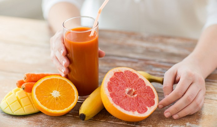 Eating foods rich in vitamin C and omega-3s can improve your skin's elasticity and make it firm