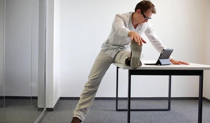 Exercise at your desk to stay active even with a desk job