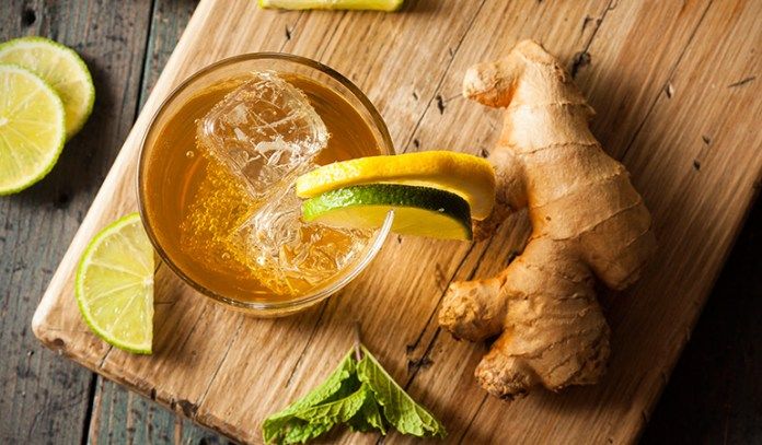 Ginger and litchi drink for detox