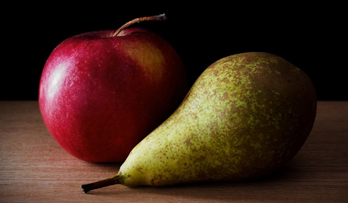 Apples and pears are high-fructose fruits that may aggravate IBS symptoms