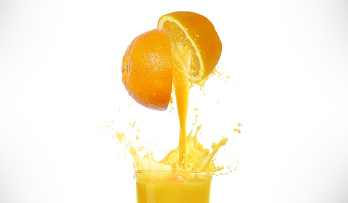 Commercially available orange juice is devoid of oxygen to preserve it longer