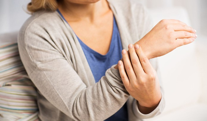 The aging or injury of a joint may cause fluid to leak out and form fluid-filled lumps under the skin.