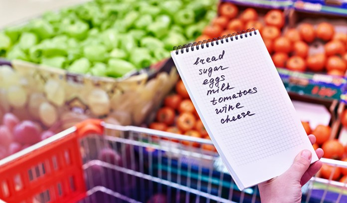Keep a shopping list to shop practically