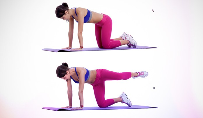 This exercise engages the glutes.