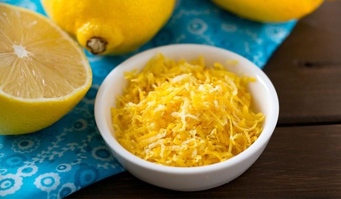 Add lemon zest to your eggs.