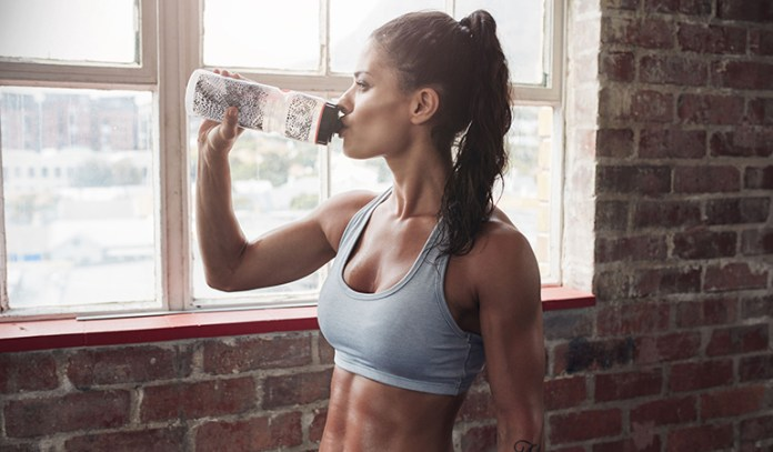 Drink 7 ounces of water every 15 minutes of your workout.