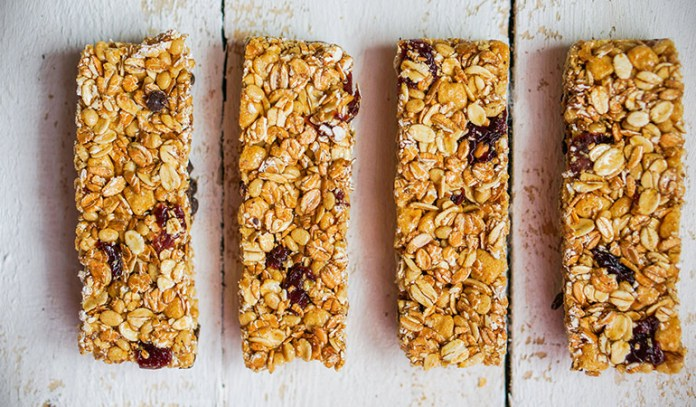 Granola bars are dipped in sugar syrup making them unhealthy foods