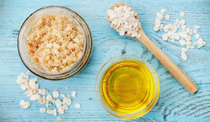 Honey has moisturizing properties and oatmeal exfoliates