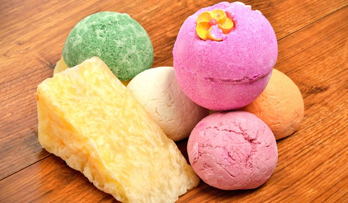 Bath bombs, bath salts, and essential oil blends can be prepared at home.
