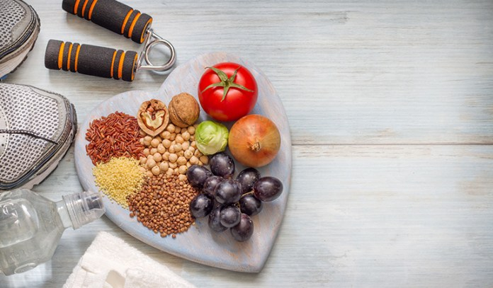 A balanced diet with regular exercise can manage symptoms of a fatty liver.
