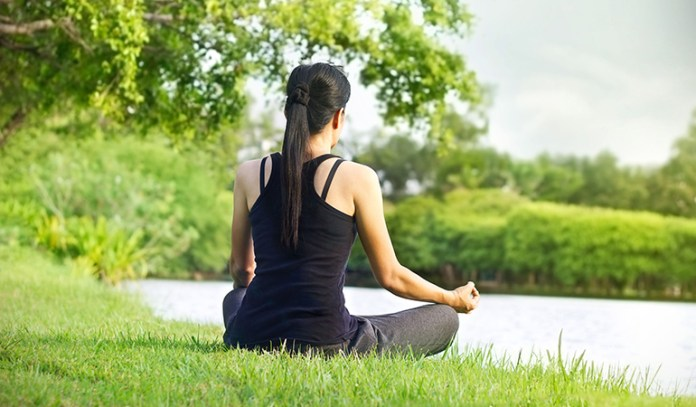 Meditation lowers anxiety.