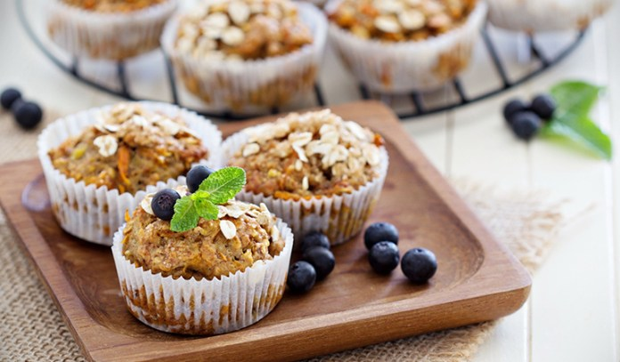 date syrup replaces sugar, making this muffin super healthy