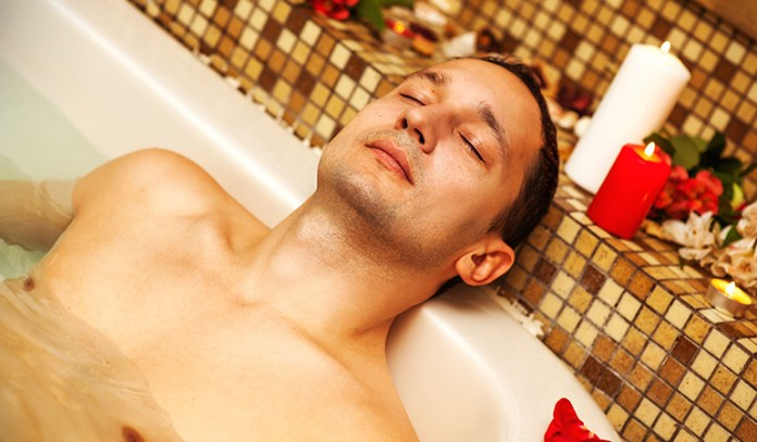 Ensure that the temperature of the bathwater is comfortable for you.