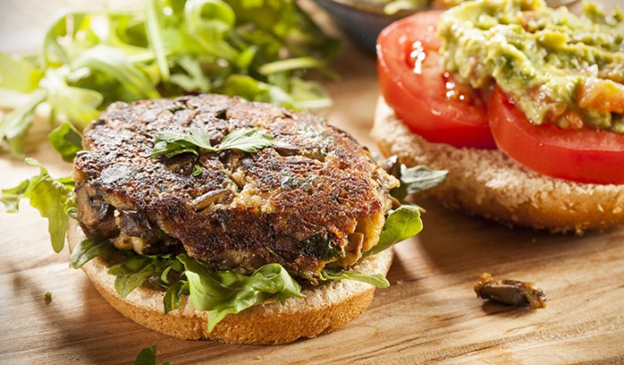 Veggie burgers made from soy protein contain hexane