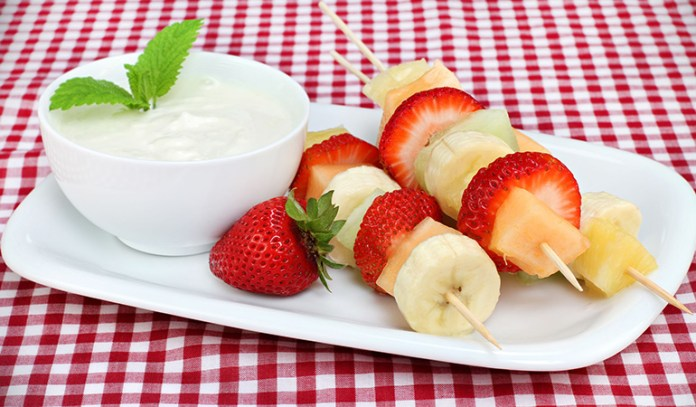 Yogurt and fresh fruit improve digestion.