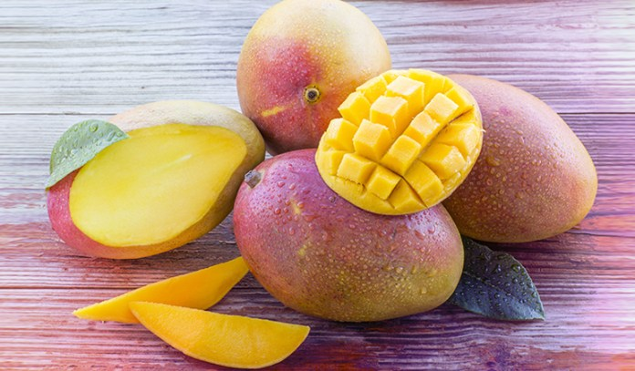 Mangoes are a good source of vitamin A.