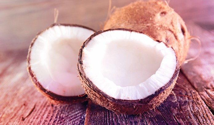 Coconuts are rich in iron