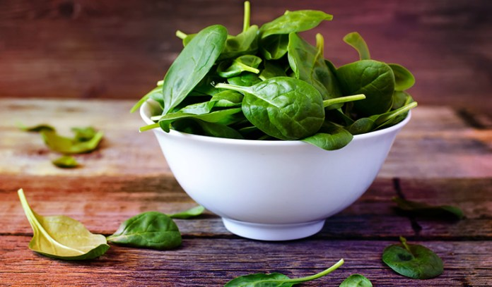 Half a cup of boiled spinach contains 5659 mcg of beta-carotene.