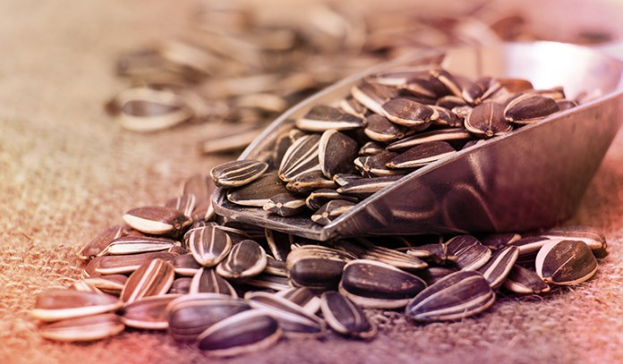Sunflower seeds are rich in folate.