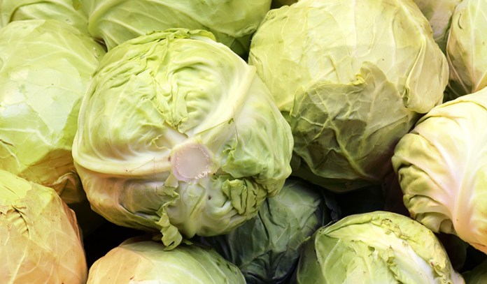 Half a cup of cooked cabbage contains 81.5 mcg of vitamin K.