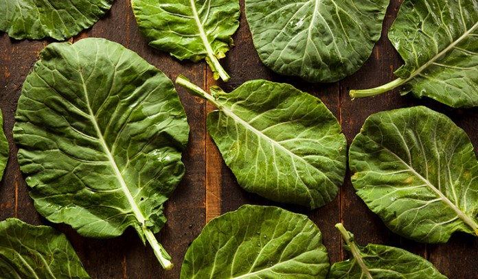 1 cup of collards, cooked: 268 mg of calcium (20.6% DV)