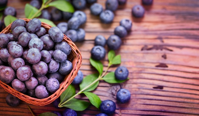Half a cup of blueberries has 14 mcg.
