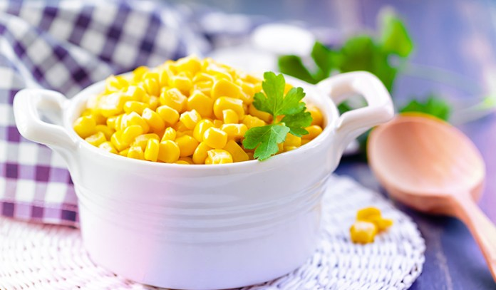 A cup of boiled yellow corn has 5.08 gm of protein.