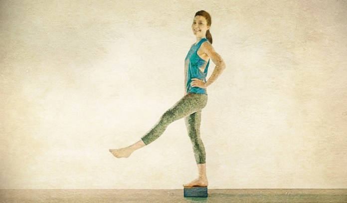 Standing release pendulum swing eases psoas muscle.