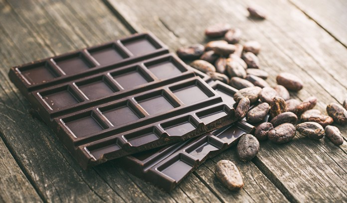 One-ounce portion of dark chocolate: 2.27 mg of iron (12.6% DV)