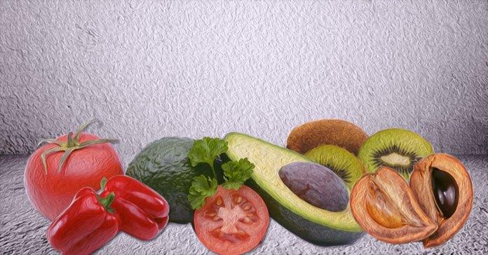 Fruits rich in vitamin E.